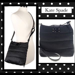 Kate Spade Quilted Black Nylon crossbody